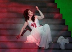 Albina Shagimuratova as Lucia in LA Opera's production of Gaetano Donizetti's Lucia di Lammermoor.