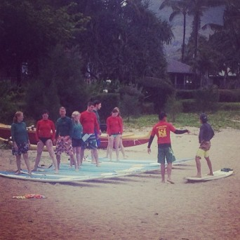 Take A Surfing Lesson In Kauai